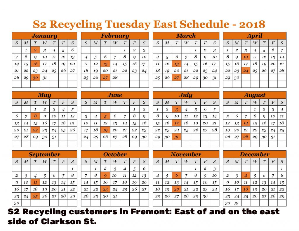 2018 Recycling East Fremont