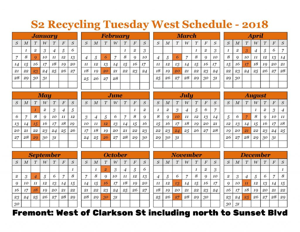 2018 Recycle West Tuesday