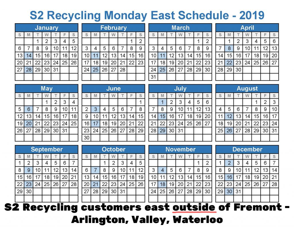 2019 Recycling east