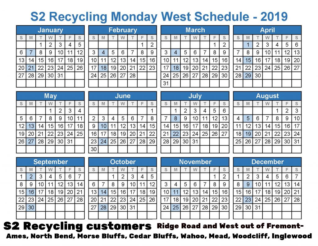 2019 Recycling Monday West