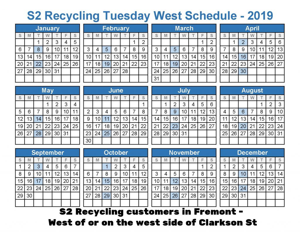 2019 recycle tues west