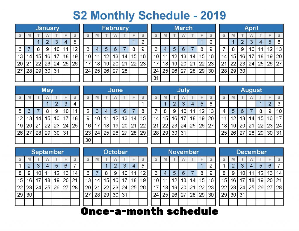 2019 Monthly