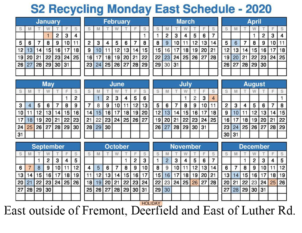 2020 Monday East Recycle