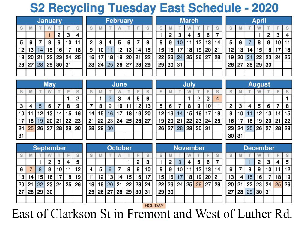 2020 Tuesday east recycle