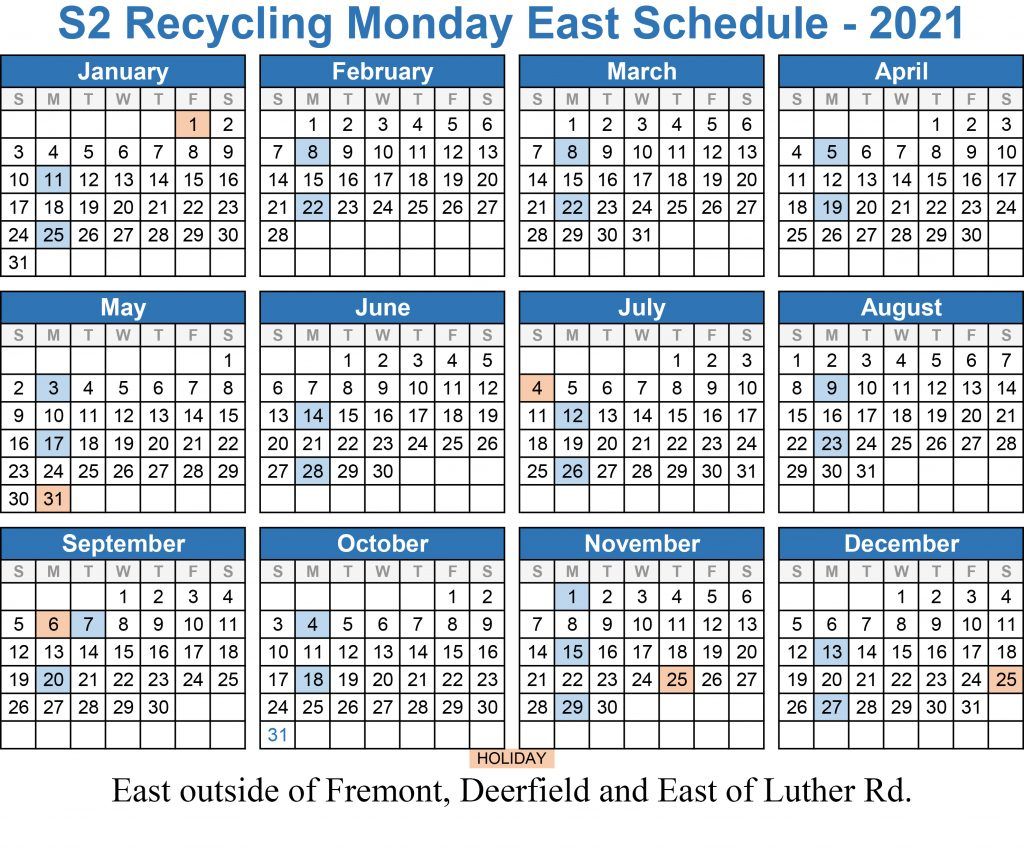 2021 Monday Recycling East out of Fremont