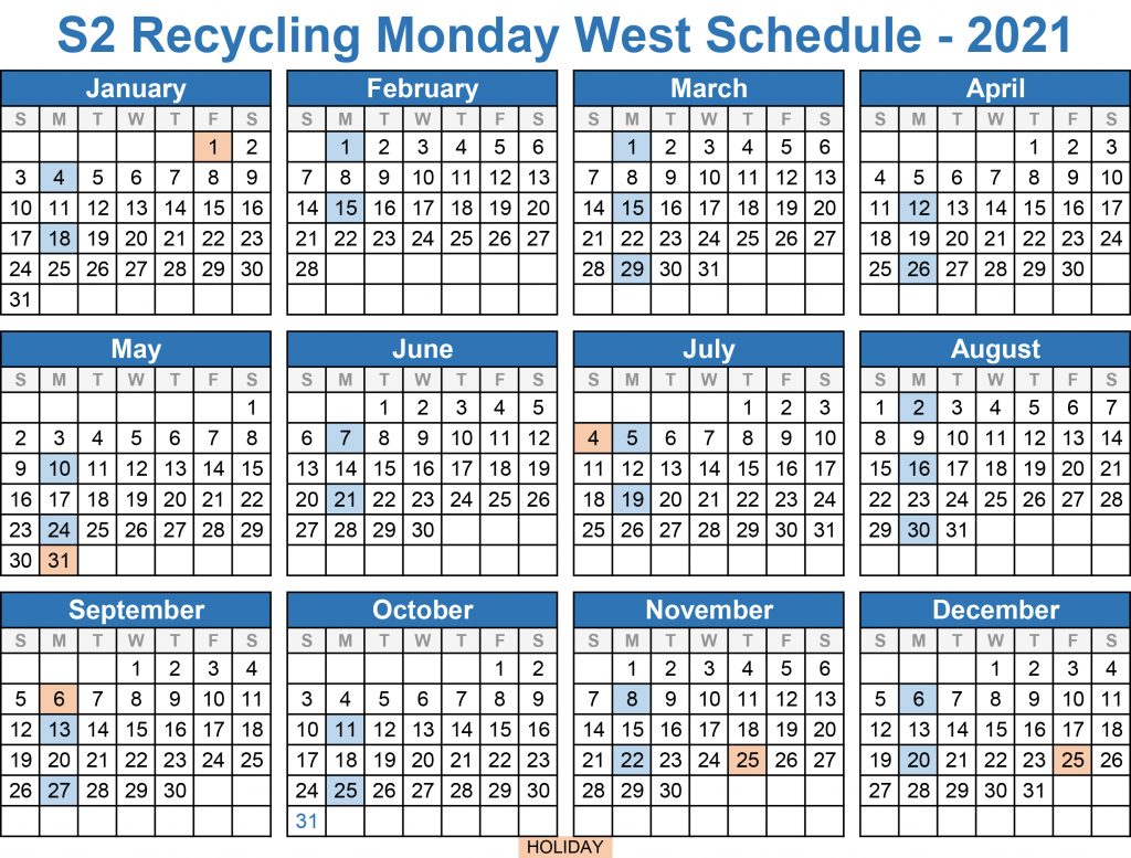2021 Recycling Monday West