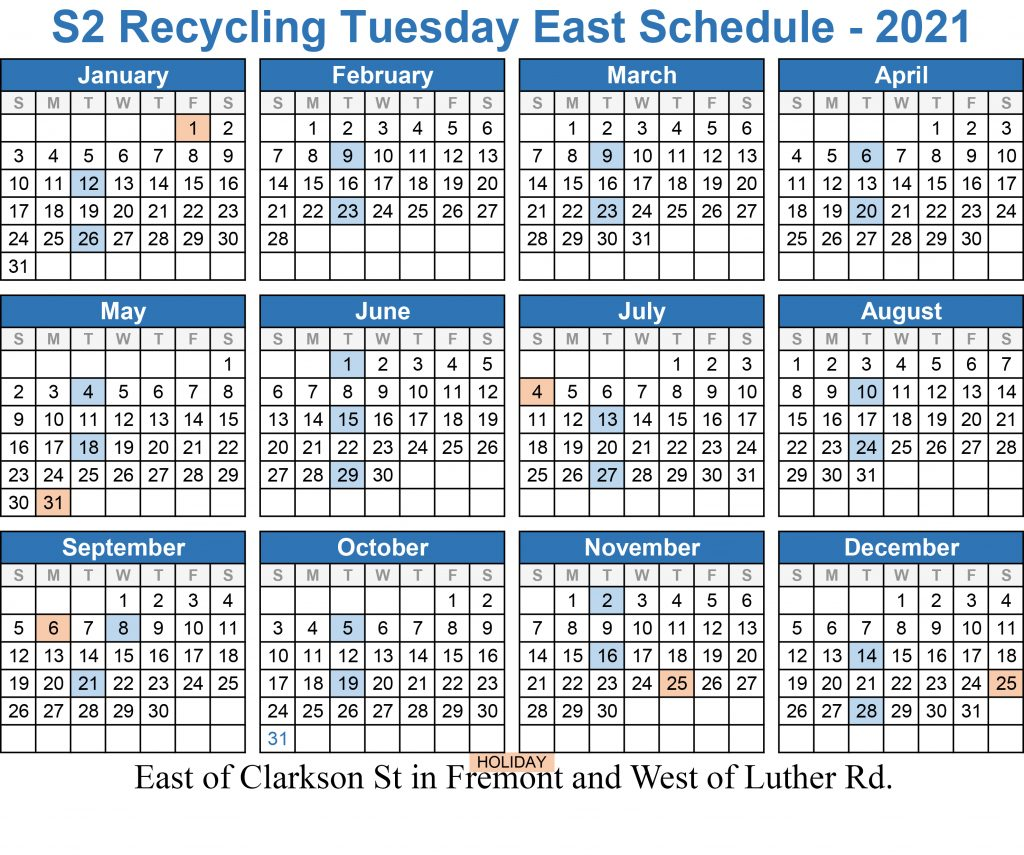 2021 Tuesday East Recycling