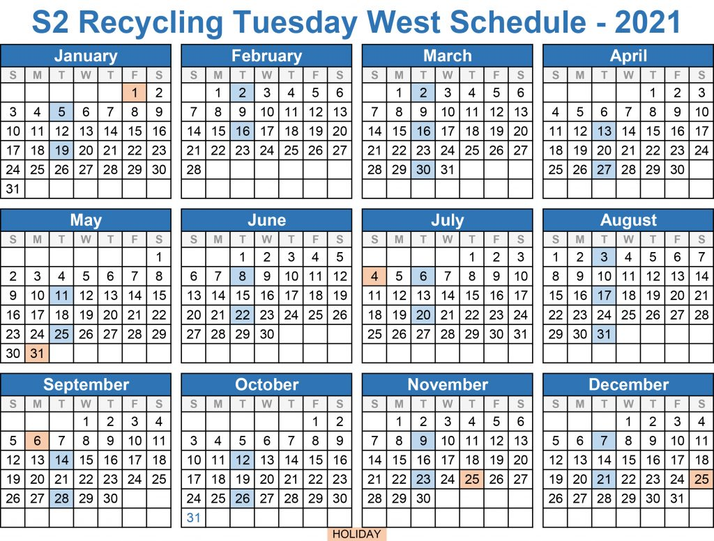 2021 Recycling West Tuesday